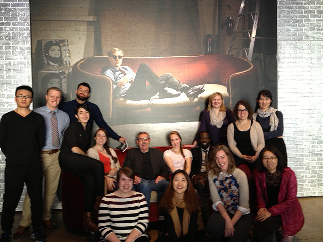 Dr. Lawson & his AE 7681 students at andy warhol museum
