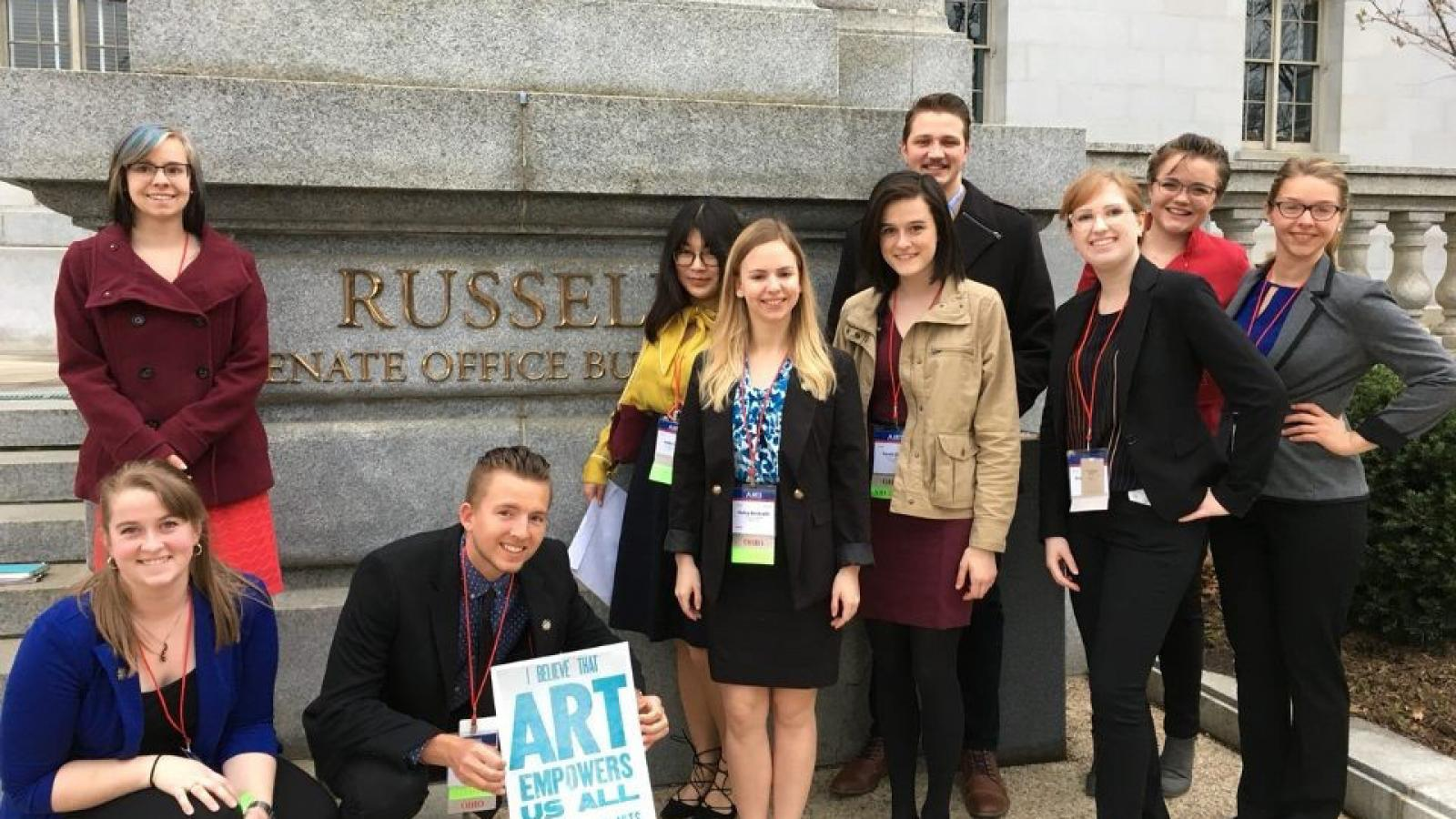 AAEP students attend the 2017 Arts Advocacy Day in Washington, D.C.